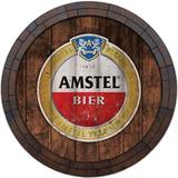 Quadro Tampa De Barril Vintage Cerveja Whisky Amstel