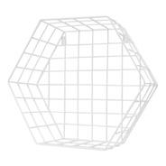 Estante Metal Hexagonal Cuadrille Blanco S 32x30x30 Cm