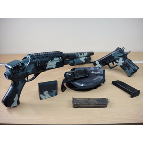 Crosman Set Pistola Y Escopeta Airsoft 6mm Bbs Kit Táctico