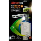 Atman T2 Filtro + Luz Led Blanca/ Azul P/acuarios 40/50lts
