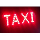 Letreiro Luminoso 45 Leds Taxi Interno Vermelho Bigorilho