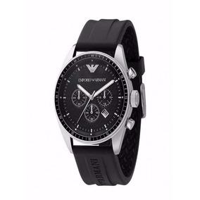 Relógio Empório Armani Ar0527 Pulseira De Borracha