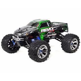 Carro Traxxas Revo 3.3 4wd Rtr Nitro Tqi 2.4ghz Verde 530973