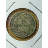 Moneda De Costa Rica De Plata 5 Centavos 1890 Jmg