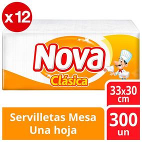 Servilleta Nova Tradicional Pack X12 3600 Unidades 33x30cm