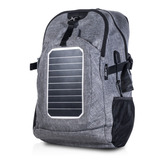 Mochila Solar Exo Powerbank 25 Lts Carga Celulares Tablets
