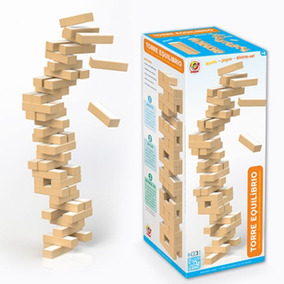 Torre Equilíbrio Em Madeira Jenga Brinquedo Junges 735