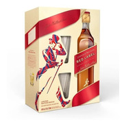 Whisky Johnnie Walker Red Label Pack C/2 Vasos 750ml Escocia