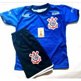3e4dc56fbb Kit Uniforme Infantil Corinthians+bola+caneleira+meiao