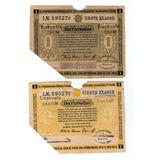 Argentvs * Alemania Prusia 2 Billetes De Loteria De 1922