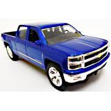 Chevrolet Chevy Silverado Pickup Ano 2014 Azul Jada 1:32