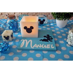 10 Centros De Mesa Mickey Mouse Bebe Aluzza.