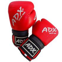 Guantes De Box Entrenamiento Adx De Piel Color Rojo - 14 Oz