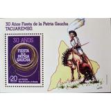 Osl Hojita Sello Uruguay 100 Años La Patria Gaucha Caballo