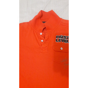 Polo Color Naranja Topy Top Manga Corta
