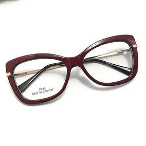 Oculos Grau Preto Feminino - Óculos Vermelho no Mercado Livre Brasil 25d5284d23