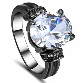 Aro 22 Anel Feminino Solitário Cristal Diamante Titânio 111