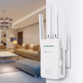 Repetidor Roteador De Sinal Wi-fi 300mbps Pix-link 50 Metros