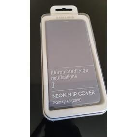 Neon Flip Cover Galaxy A8 2018 Orchid Gray Nuevo Y Original