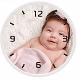 Relógio De Parede Personalizado Com A Sua Foto