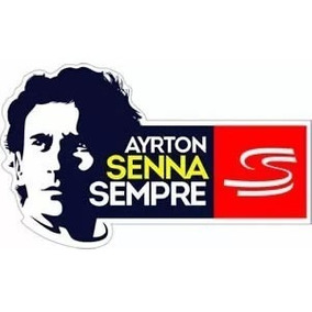 Adesivo Ayrton Senna Sempre Sticker S Do Senna F1 Formula 1