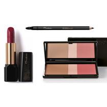 Natura Una Kit De Maquiagem Blush Iluminador + Lápis + Batom
