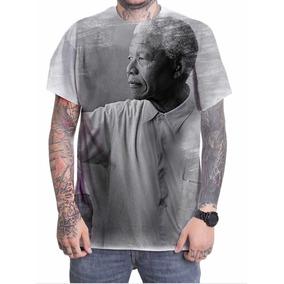 Camisa Com Imagem Do Nelson Mandela - Camisetas no Mercado Livre Brasil 3a2db912249d9
