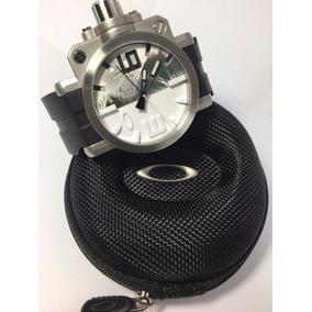 Relógio Oakley Gearbox Sapphire Crystal Stainless Steel New