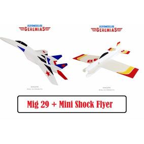Aeromodelo Mini Shock Flyer + Mig 29 Poliondas
