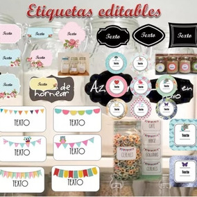 Kit Imprimible Etiquetas Frascos Vasos Editables Frases 2