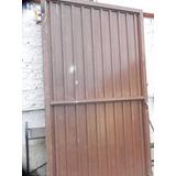 Portão Antigo Ferro Metalon 220 X 20 Bauru Sp 2 Folhas