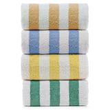 Large Turkish Beach Towel, Pool Towel With Cabana Stripe, Ec