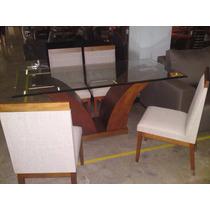 Conjunto Sala De Jantar - Mesa E 6 Cadeiras Madeira Maciça