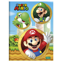 Caderno Super Mario Bros Brochura Capa Dura 96 Folhas
