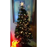 Árbol De Navidad Fibra Optica 120 Cm