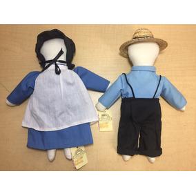 Muñecos Hechos A Mano Comunidad Amish Antiguos B10