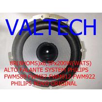 Philips Alto Falante Som Fwm57 8rx6,5x200w Novo Original