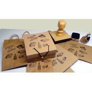 Sello Nuevo Para Imprimir Cajas Cartón 10x10cm Personalizado