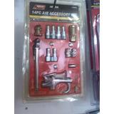 Juego D/pistola De Aire Y Accesorios Para Compresor, 14 Pzas