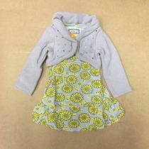 Conjunto Marisol Infantil Vestido E Bolero - Cinza Ref:13842