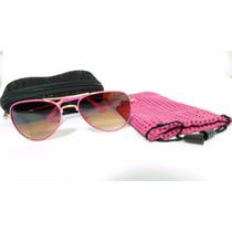 Óculos De Sol Infantil Feminino Estilo Ray-ban Aviador