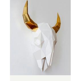 Plantilla Para Elaborar Figura Ornamental De Cráneo De Toro