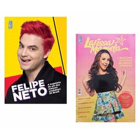 Kit Livros Trajetória Felipe Neto + Larissa Manoela #
