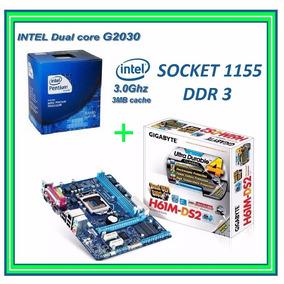 Combo Intel Cpu G2030 A 3.0 Ghz + Tarjeta Madre Gigabyte H61