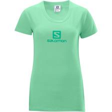 Polo Femenino Salomon -  Poly Logo Tee W Verde - Hiking