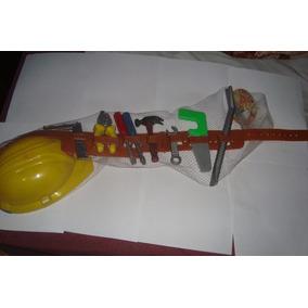 Cinturon Con Herramientas Y Casco De Construccion Juguete
