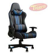 Sillon Butaca Escritorio Gamer Racing Playstation Xbox Pc Reclinable Altura Cama Colores Azul Tisera Codf01