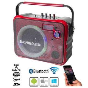 Radio Caixa Som Amplificada Portatil Bluetooth Pen Drive Sd