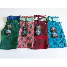 Kit Com 5 Shorts Infantil, Brim Estampado Masculino, Barato
