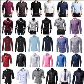 Camisa Social Masculina Slim Fit Luxo Varios Modelos